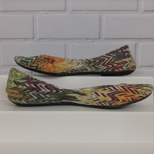dfb3c7a6b28 Steve Madden · Ballet Flats Multi-Color Zigzag Boho Size 9M